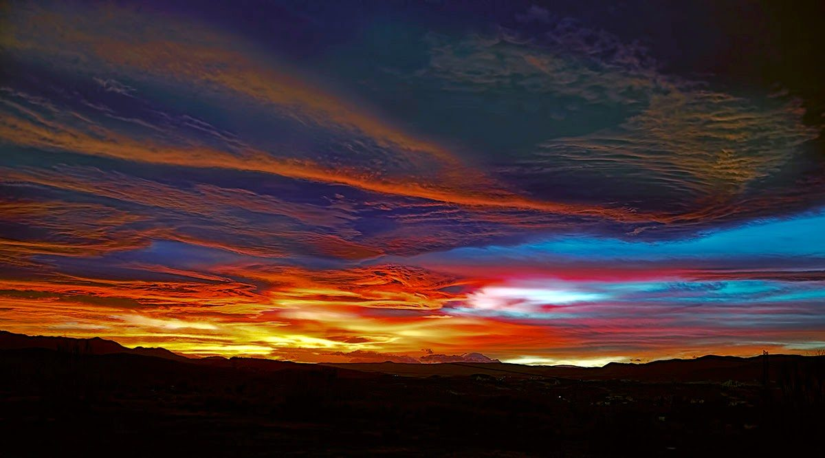 """""""Jueves 29 enero 2015"""",  cielo antes de la ciclogenesis"""