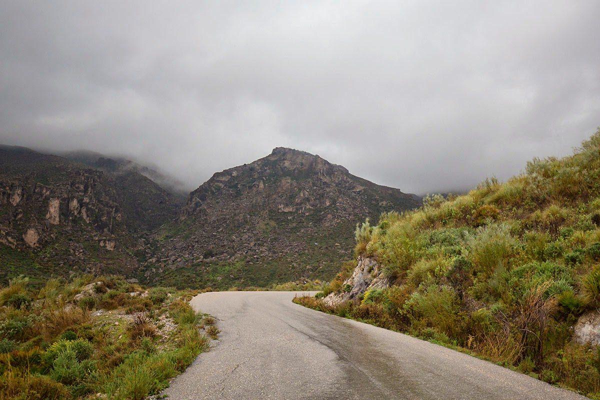 Día de lluvia y niebla en la Sierra